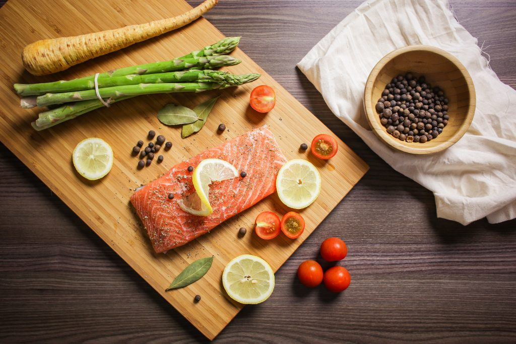 preparing-grilled-salmon-steak-picjumbo-com